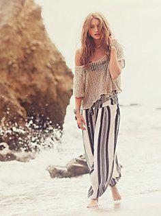 Stripe Black Pearl Pants