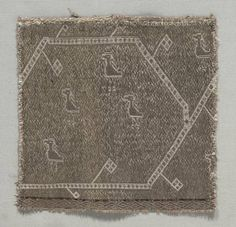 Fragment of a Galloon, 1000s Italy, 11th century tablet weave; gold metallic thread and silk, Overall - h:16.80 w:16.50 cm (h:6 9/16 w:6 7/16 inches). Gift of Dr. C. S. Reber 1931.444