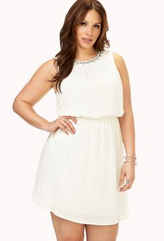 Touch-Of-Glam Fit & Flare Dress | FOREVER21 PLUS - 2000073146 PERFECT FOR RECTANGULAR AND PEAR SHAPES!