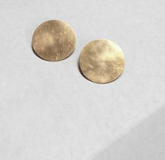 Image of Gold Disc Earrings
