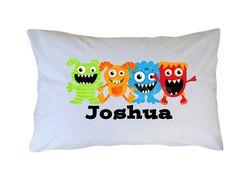Monster Pillowcase  Monster Pillow Case www.cutiepatootiecreations.com