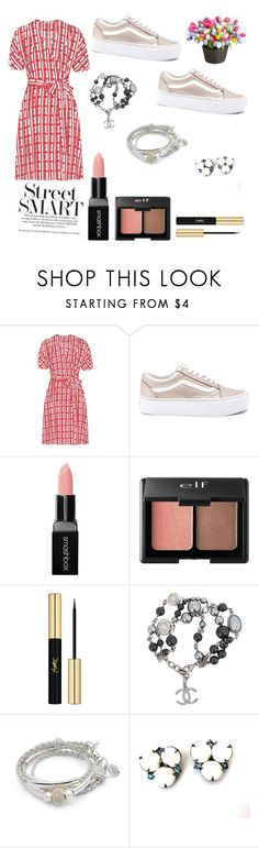 """Bored AF"" by florenpink ❤ liked on Polyvore featuring Miu Miu, Vans, Smashbox, Charlotte Russe, Yves Saint Laurent, Chanel, Lizzy James and Improvements"