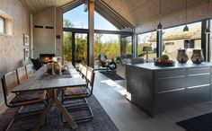 Interiør - Sjemmedalhytta Italy House, Studio Living, Italian Home, Architect House, Small House Plans, Cabins In The Woods, Modern House Design, Decoration, My House