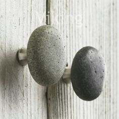 $11 Unique Natural River Stone Rock Cabinet Door Knob Handle Hardware - Kitchen or Bathroom - Variety of Colors and Shapes -