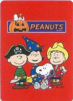 From the Peanuts Great Pumpkin card deck set.