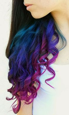 101 Real Girls Who Dare to Rock Rainbow Hair Ombre Hair Color, Bright Hair, Colorful Hair, Pastel Hair, Funky Hair Colors, Ombre Hair Color, Purple Ombre, Peacock Hair Color, Galaxy Hair Color, Unicorn Hair Color