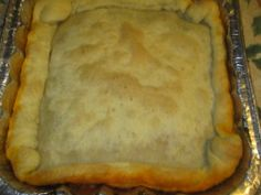 Cajun Pot Pie--Cajun Pot Pie-- This is a cross between a pot pie and gumbo. Chrispy puff pastry and saucy filling.