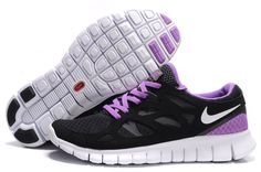 low priced 1bac1 7fe9a Nike Free Run 2 Womens Running Shoes Anthracite Black White Purple Violet Nike  Free Run 2