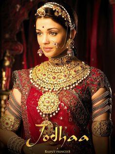 "Jodhaa, the Rajput princess in the movie ""Jodhaa Akbar"""