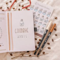 Coffee Theme Bullet Journal Set-up | Heraldeecreates Creating A Bullet Journal, Bullet Journal For Beginners, Bullet Journal Monthly Spread, Bullet Journal Cover Page, Bullet Journal Tracker, Bullet Journal Notebook, Bullet Journal Themes, Bullet Journal Layout, Journal Covers