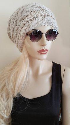 Men/'s Ragazzi Lavorato a Maglia Inverno Caldo Sci Crochet Slouch oversize cappello unisex cap beanie