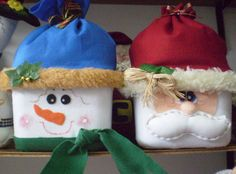 Ice cream containers made into gift boxes for Christmas  Didi at Relief Society.blogspot.com