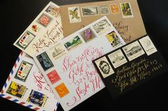 pretty stamps and lettering