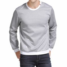 cab86867fc 2017 spring Autumn Fashion solid New casual Male Streetwear long sleeve Hoodies  Men pullover Sweatshirts plus size 3XL 4XL