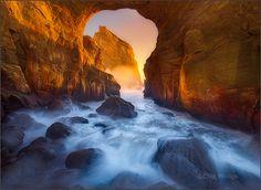 Cape Kiwanda Key Hole by Chip Phillips on Flickr.