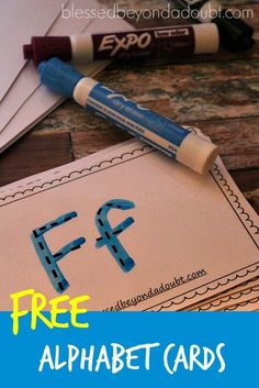 Free alphabet tracing cards. They are perfect for on the go.