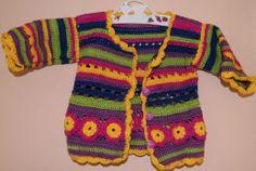 Babyjäckchen, häkeln, Baby, crochet