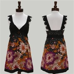 I could use a black fabric, and the african print below.    Free People  African Jewel Embroidered Floral Dress