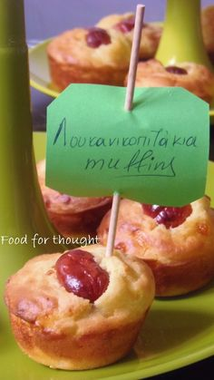 Food for thought: Λουκανικοπιτάκια muffins Cookbook Recipes, Cooking Recipes, Caramel Apples, No Bake Cake, Food For Thought, Party Time, Muffins, Eat, Breakfast