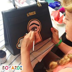 Hand Painted Pop Art by Boyarde Messenger #LouisVuitton #LibertyLondon #Hermes…