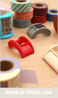 The handy MT Nano Tape Cutter attaches to your tape roll and has a finely serrated edge for cutting washi tape strips neatly.