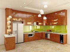 """Tủ bếp gỗ tự nhiên đang làm """"khuấy động"""" thị trường tủ bếp với kiểu dáng đa dạng, màu sắc trầm ấm, ấm cúng tự nhiên"""