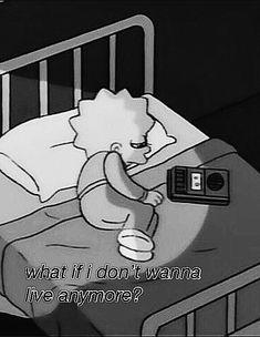 #lisasimpson #thesimpsons #sad #sadieseasongoods #reactions Sad Pictures, Reaction Pictures, Sad Wallpaper, Iphone Wallpaper, Simpsons Quotes, Sad Drawings, Sad Life, Sad Art, Depression Quotes