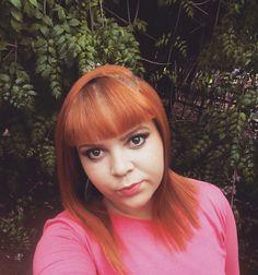 Ruiva ginger ruivo acobreado franjinha cor&ton 7.43 + 10 kamaleao color flamingo ruiva ginger red hair orange ruivisse
