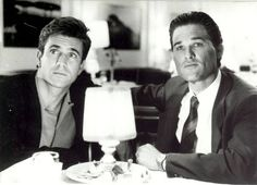 Kurt Russell and Mel Gibson were incredibly epic in this flick from the Since they made action in good science fiction films like mad max and escape from New York and worked with directors like Ron Howard and Roland Emmerich. Goldie Hawn Kurt Russell, James Dean Photos, Tequila Sunrise, Mel Gibson, Michelle Pfeiffer, Top Movies, Mans World, Film Director, Good Looking Men