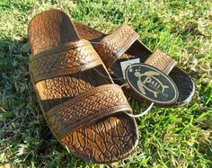 New Genuine Pali Hawaii Classic Jesus Rubber by Kianclothing -- seller's title says they're new, but the brand is more than 20 years old, so that's Etsyverse vintage!