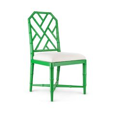 Jardin Side Chair | Chippendale | Birch | Lacquer | Green | Linen