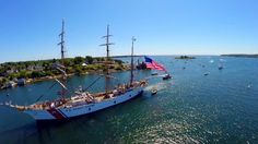 USCG EAGLE ARRIVES IN GLOUCESTER 2014 - DRONE AERIALS. The amazing and stunning USCG EAGLE has arrived in Gloucester! The USCGC Eagle (WIX-3...