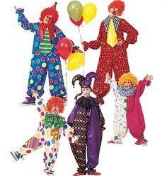 Patron de déguisement de clowns
