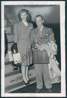 Buster and Eleanor traveling from Paris where he performed at Cirque Medrano