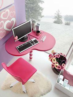 Princess Pink Bedroom Colors Ideas - Teen Room Furniture Set for Girls
