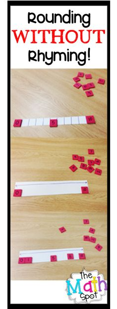 Excellent lesson for rounding that emphasizes understanding! Rounding WITHOUT Rhyming. Teaching rounding through number sense, number lines and an understanding of numbers! Fun Math, Math Games, Math Activities, Maths, Math Fractions, Math Teacher, Teaching Math, Math Classroom, Classroom Ideas
