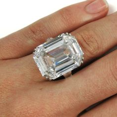 Harry Winston Magnificent 22.91 Carat GIA Cert. D Color Emerald Cut Diamond Ring 9