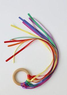 DIY Handmade Baby Toys : DIY Dancing Ribbon Rings