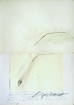 Cy Twombly, Orpheus, 1975