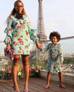 Queen Bey and Blue Ivy