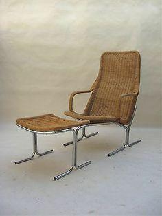 RARE Lounge Chair Ottoman Dirk Van Sliedregt 1961 Kjaerholm Jacobsen Eames Era   eBay