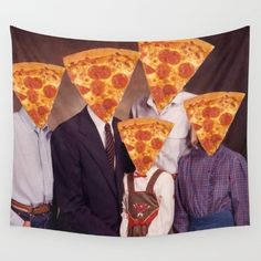 And a wall tapestry of your family portrait. | 27 Important Items For People Who Love Pizza More Than Life