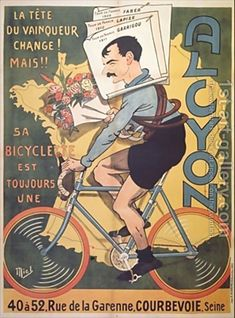 Alcyon ~ Mich (Michel Liebeaux) | #Bicycles #Alcyon