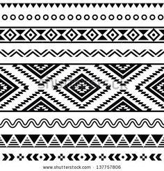 Aztec tribal tattoo.