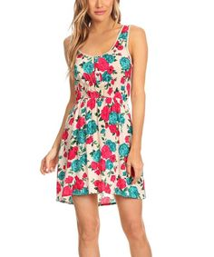 A button-down bodice balances the flirty vibe of this solid-backed dress with a pinch of polish.Size M: 34.5'' long from high point of shoulder to front hem; 39'' long from high point of shoulder to back hem100% rayonHand washImported