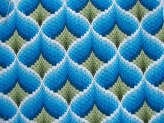 Bargello stitched ribbon like pattern...makes me think of Mom! :D