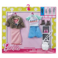 Barbie Fashions Chic Pack Clothes Set for sale online Original Barbie Doll, Barbie Dolls Diy, Barbie Sets, Doll Clothes Barbie, Ropa American Girl, American Girl Clothes, Made To Move Barbie, Diy Barbie Furniture, Barbie Doll Accessories