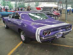 1968 Dodge Charger R/T The fact that it's purple makes it a hundred times cooler.