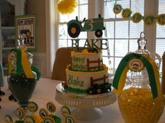 Tractor Birthday Party Ideas tractor-john-deer-birthday-party - Click image to find more Art Pinterest pins