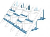 AtticMaxx Shelving System creates valuable storage space between attic trusses.